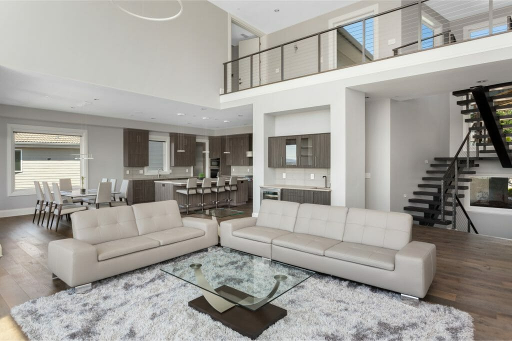 Great room in modern home