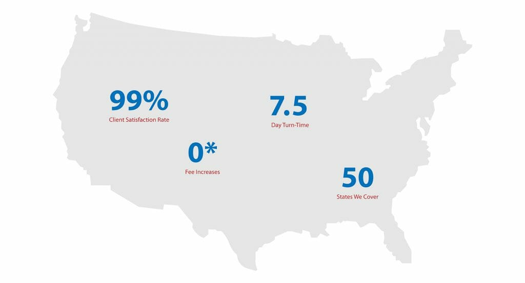 AmeriMac statistics over map of USA